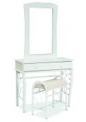 Toaletka 1102 z lustrem i stołkiem biała
