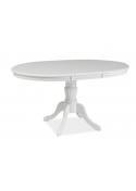 Stół Olivia Okrągły Rozkładany Biały  Signal