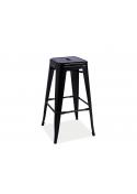 Krzesło hoker metalowy Long matowy