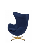Fotel EGG CLASSIC GOLD - wełna, podstawa złota