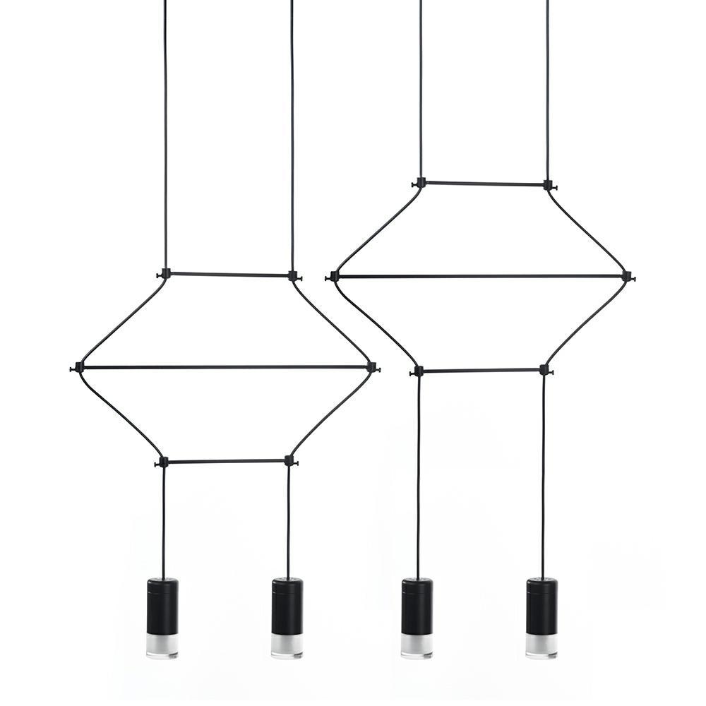 Lampa wisząca FLUSSO LINE 4 czarna