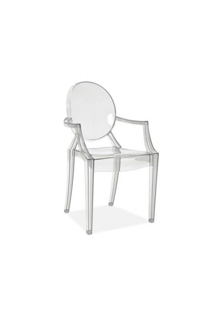 Krzesło LUIS transparentne