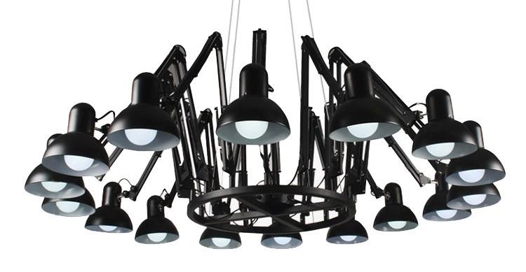 Lampa wisząca RAGNO 16 czarna