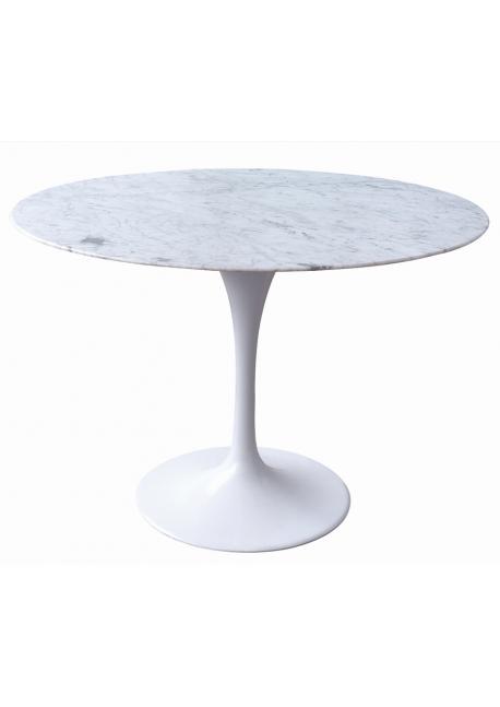 Stół TULIP MARBLE - blat okrągły marmurowy