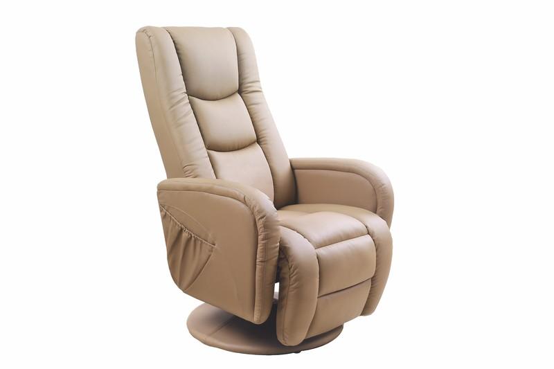 Fotel rozkładany PULSAR  z funkcją masażu beżowy