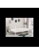 Łóżko SUMATRA 90x200 metalowe białe
