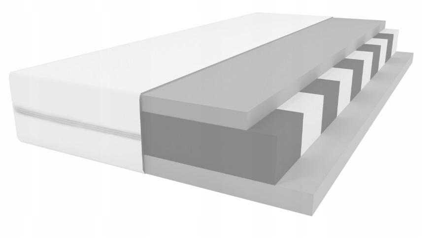 Materac wysokoelastyczny HR 90x200 cm  grubość 9-10 cm