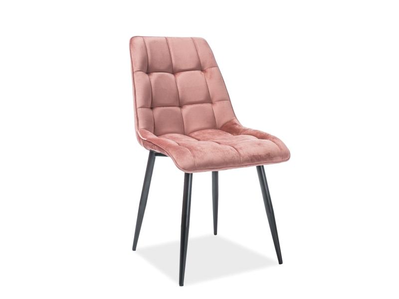 Krzesło Chic Velvet Różowe