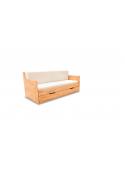 Łóżko DUO C Rozkładane Dwuosobowe 180X200 Bukowe wysuwane