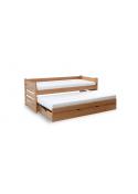 Łóżko wysuwane jednopoziomowe FOR 2 PLUS Bukowe