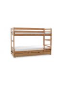 Łóżko Piętrowe Dwuosobowe TWINS PLUS Bukowe