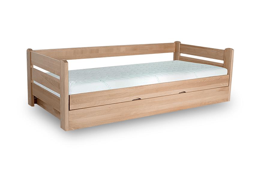 Łóżko Jednoosobowe DREAM 120x200 Bukowe