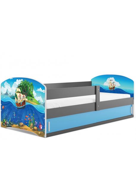Łóżko LUKI pojedyncze  160x80 grafit