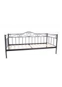 Łóżko metalowe młodzieżowe Padwa 90x200 czarne Furni