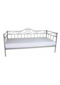 Łóżko metalowe młodzieżowe Padwa 90x200 szare Furni