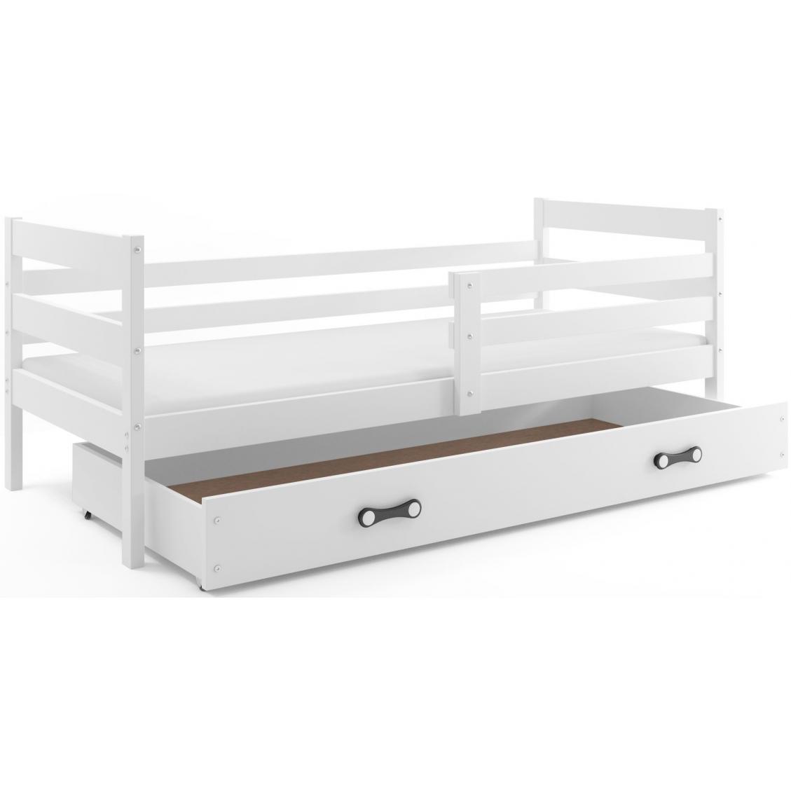 Łóżko Parterowe ERYK  Jednoosobowe Białe