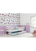 Łóżko dziecięce ERYK 190x80  Jednoosobowe  Białe z szufladą