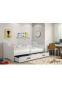 Łóżko dziecięce  SOFIX 160x80 jednoosobowe z szufladą