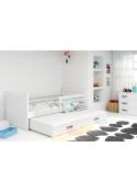 Łóżko Dwuosobowe Wysuwane  RICO 190x80 Biały