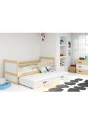Łóżko Dwuosobowe Wysuwane  RICO 200x 90 Sosna