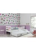 Łóżko Dwuosobowe Wysuwane ERYK 190x80 Białe