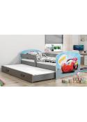Łóżko LUKI 160x80 grafitowe dwuosobowe wysuwane