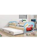 Łóżko LUKI 160x80 sosna dwuosobowe wysuwane