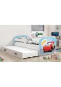 Łóżko LUKI 160x80 białe dwuosobowe wysuwane