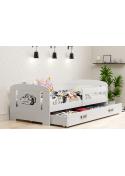 Łóżko FILIP 160x80 białe jednoosobowe z szufladą