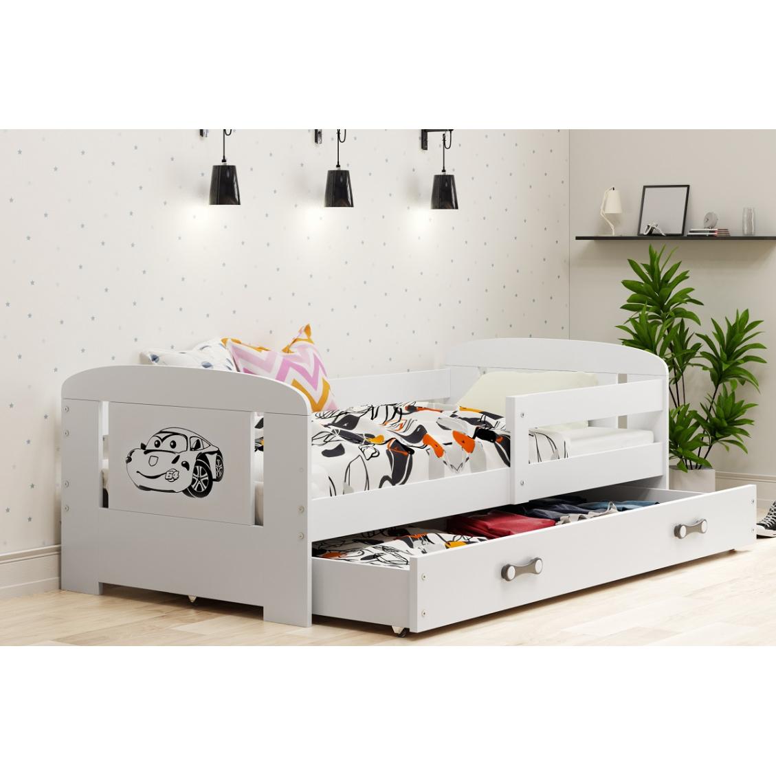 Łóżko FILIP z szufladą 160 x 80 cm biały