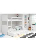 Łóżko Piętrowe Trzyosobowe RICO 200x90 Biały