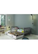 Łóżko Parterowe Dwuosobowe Wysuwane CARINO 190x80 Grafit