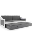 Łóżko DAWID 200x90 Białe dwuosobowe wysuwane
