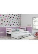 Łóżko Dwuosobowe Wysuwane ERYK 200x90 Białe