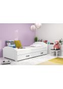 Łóżko Jednoosobowe Pojedyncze Z Szufladą LILI 200x90 Biały