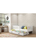 Łóżko KUBUŚ 200x90 białe dwuosobowe wysuwane