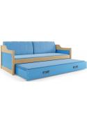 Łóżko DAWID 190x80 Sosna dwuosobowe wysuwane