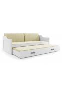 Łóżko DAWID 190x80 białe dwuosobowe wysuwane