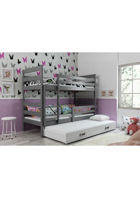 Łóżko Piętrowe Trzyosobowe ERYK 200x90 Grafit