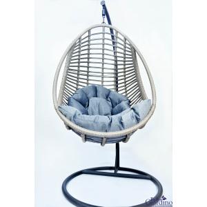 Fotel wiszący kokon BELLISSIMO szary Bello Giardino