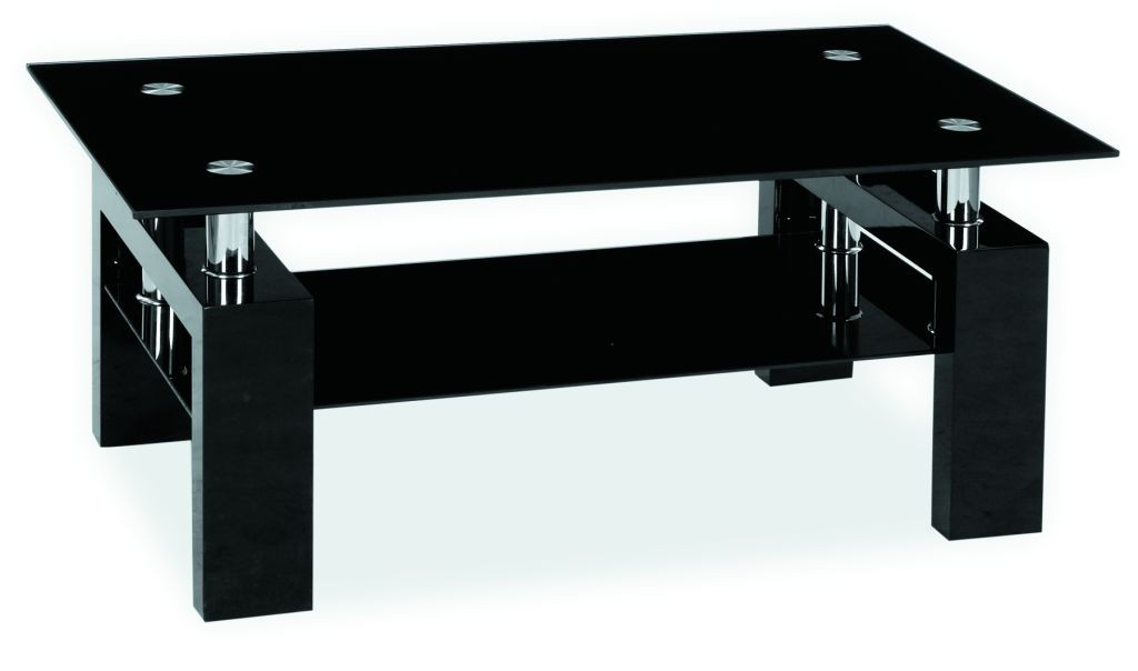 Ława Lisa II 110x60 czarna lakierowana