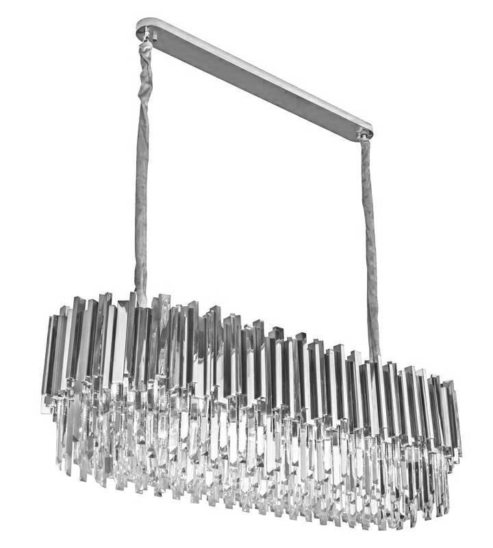 Lampa wisząca IMPERIAL LONG SILVER 90