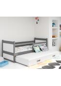 Łóżko Dwuosobowe Wysuwane RICO 190x80 Grafit
