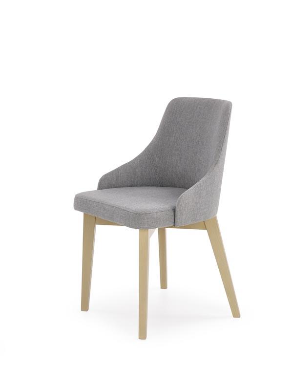 Krzesło Toledo szary / nogi-dąb sonoma  Halmar