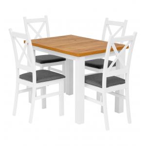 Zestaw Mone Carlo stół + 4 krzesła Furni