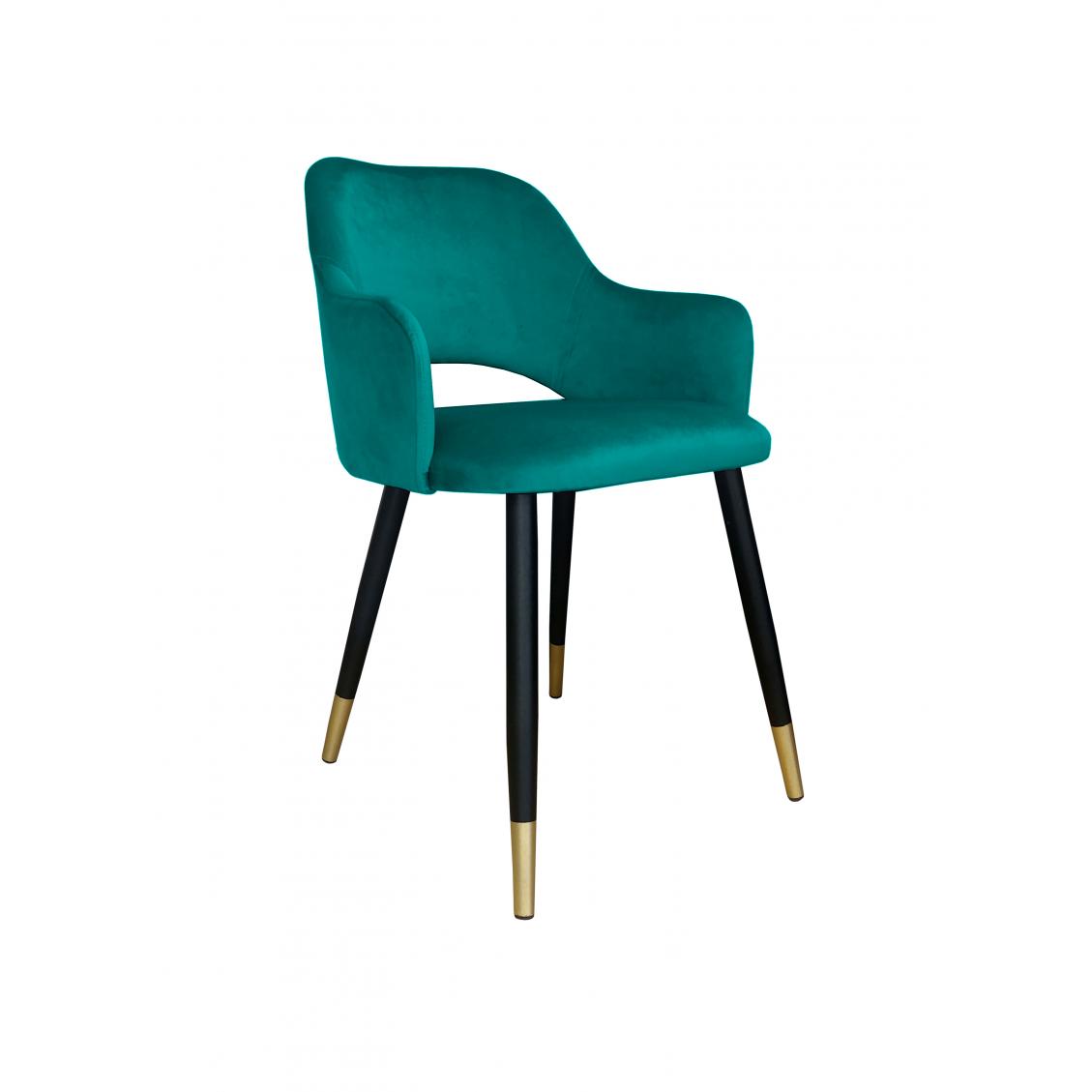 Krzesło Milano czarny/złoty Magic Velvet