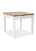 Stół Kent I 80x80 Dąb Biały