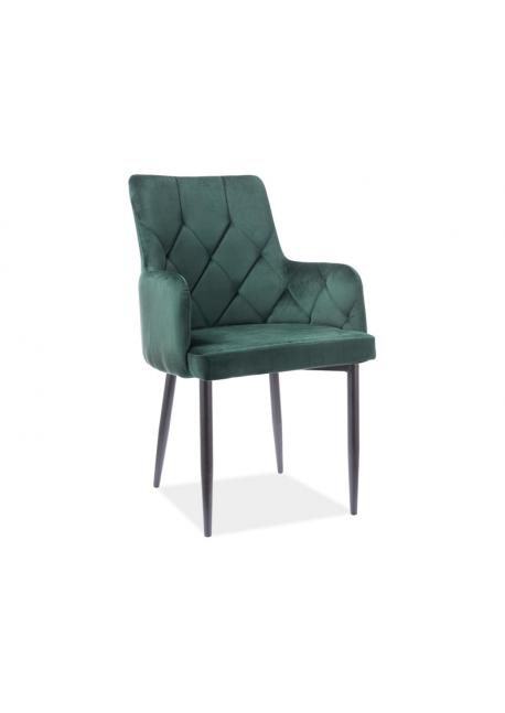 Krzesło Ricardo B Velvet Czarny Stleaż / Beż Bluvel28