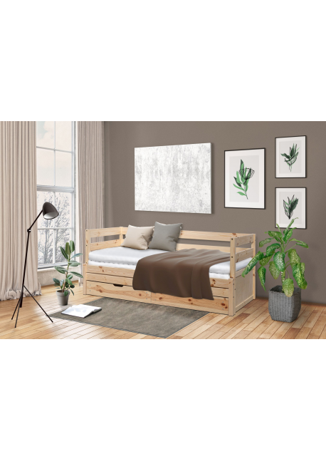 Łóżko podwójne wysuwane